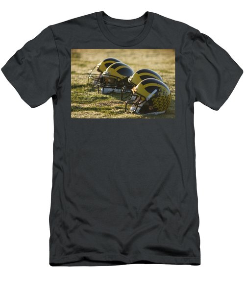 Helmets On The Field At Dawn Men's T-Shirt (Athletic Fit)