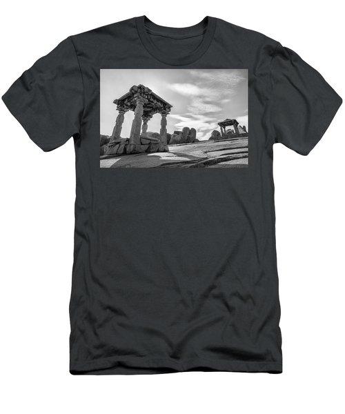 Men's T-Shirt (Slim Fit) featuring the photograph Hemakuta Hill, Hampi, 2017 by Hitendra SINKAR