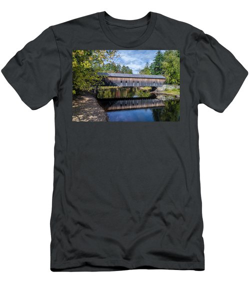 Hemlock Covered Bridge Men's T-Shirt (Athletic Fit)