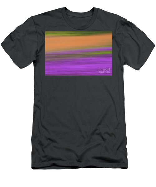 Men's T-Shirt (Slim Fit) featuring the photograph Henbit Abstract - D010049 by Daniel Dempster