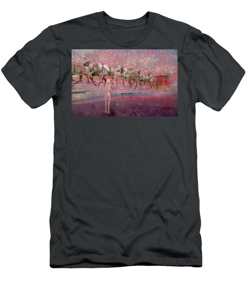 Here Comes Santa Claus Men's T-Shirt (Athletic Fit)