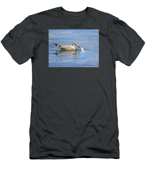 Here Fishy Fishy Men's T-Shirt (Slim Fit) by Phyllis Beiser