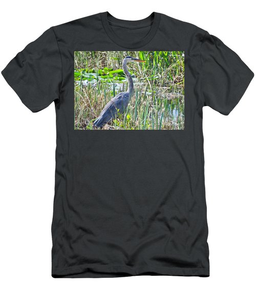 Heron By The Riverside Men's T-Shirt (Athletic Fit)