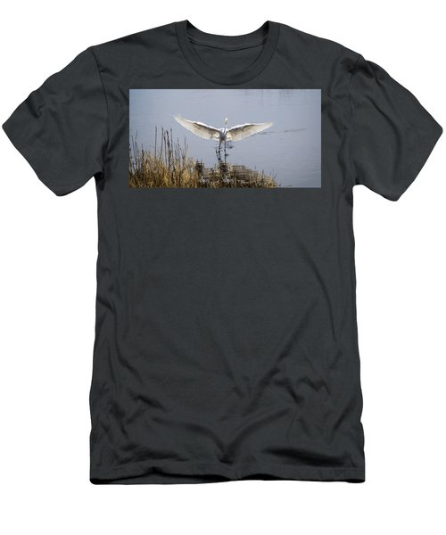 Heron Landing Men's T-Shirt (Athletic Fit)