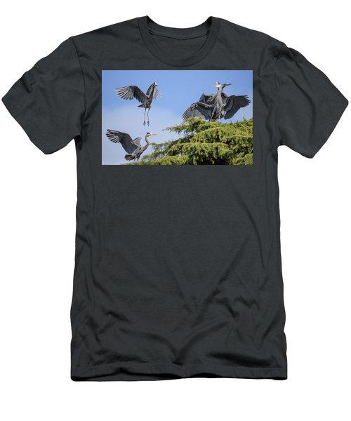 Herons Mating Dance Men's T-Shirt (Athletic Fit)