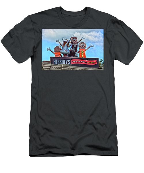 Hershey's Chocolate World Sign Men's T-Shirt (Athletic Fit)