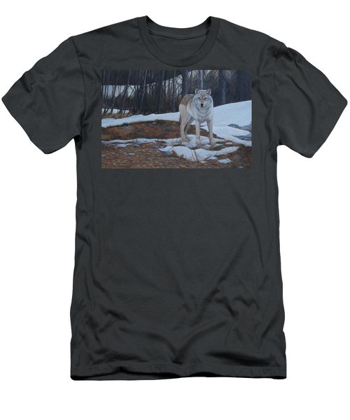 Men's T-Shirt (Athletic Fit) featuring the painting Hesitation by Tammy Taylor
