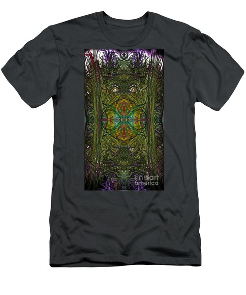 Men's T-Shirt (Athletic Fit) featuring the digital art Hidden Aztec Temple by Reed Novotny