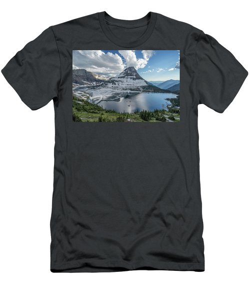 Hidden Lake Men's T-Shirt (Slim Fit) by Alpha Wanderlust
