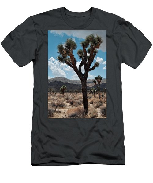 Hidden Valley Joshua Tree Portrait Men's T-Shirt (Slim Fit) by Kyle Hanson