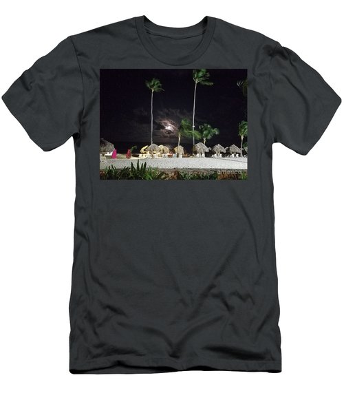 Hiding Moon Men's T-Shirt (Athletic Fit)