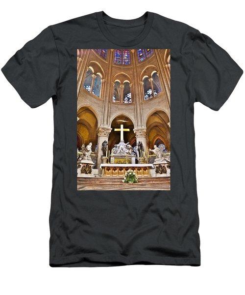 High Alter Notre Dame Cathedral Paris France Men's T-Shirt (Athletic Fit)