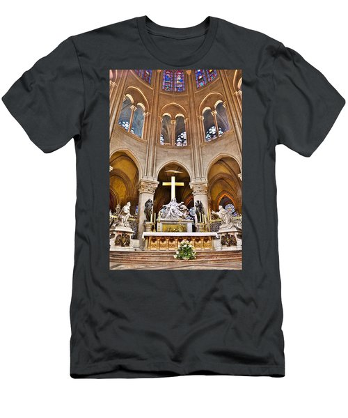 High Alter Notre Dame Cathedral Paris France Men's T-Shirt (Athletic Fit)