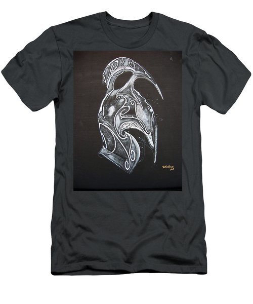 Men's T-Shirt (Athletic Fit) featuring the painting High Elven Warrior Helmet by Richard Le Page