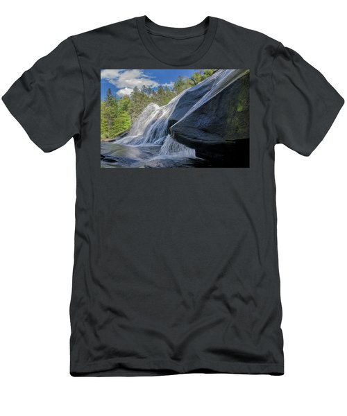Men's T-Shirt (Slim Fit) featuring the photograph High Falls One by Steven Richardson