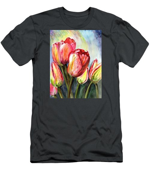 Men's T-Shirt (Slim Fit) featuring the painting High In The Sky by Harsh Malik
