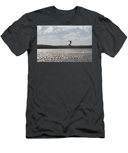 Men's T-Shirt (Athletic Fit) featuring the photograph High Jump  by Miroslava Jurcik