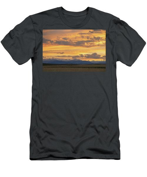 Men's T-Shirt (Athletic Fit) featuring the photograph High Plains Meet The Rocky Mountains At Sunset by James BO Insogna