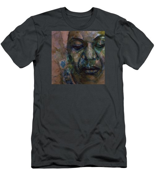 Men's T-Shirt (Slim Fit) featuring the painting High Priestess Of Soul  by Paul Lovering