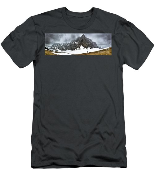 Men's T-Shirt (Athletic Fit) featuring the photograph Hiking In The Alps by John Wadleigh