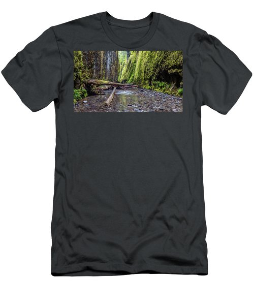 Hiking Oneonta Gorge Men's T-Shirt (Slim Fit) by Pierre Leclerc Photography