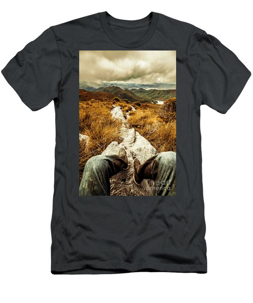 Hiking The Mount Sprent Trail Men's T-Shirt (Athletic Fit)