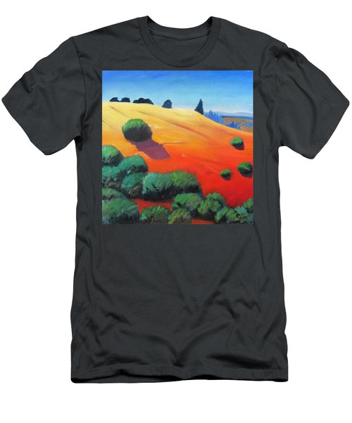 Men's T-Shirt (Slim Fit) featuring the painting Hills And Beyond by Gary Coleman