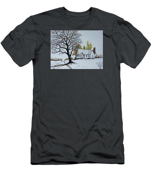 Hilltop Church Men's T-Shirt (Slim Fit) by Jack G  Brauer