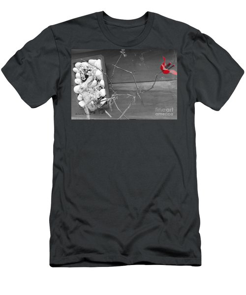 Hints Of Red Men's T-Shirt (Athletic Fit)