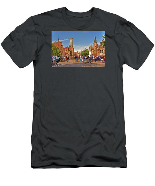 Men's T-Shirt (Slim Fit) featuring the photograph Historic Bruges by Dennis Cox WorldViews