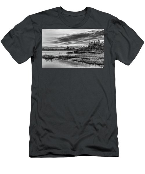 Historic Whitebog Landscape Black - White Men's T-Shirt (Athletic Fit)