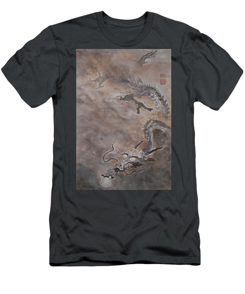 Hitofuki The Dragon Men's T-Shirt (Athletic Fit)