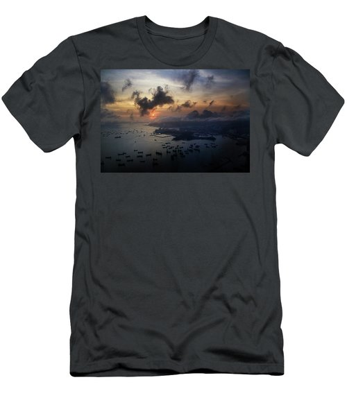 Men's T-Shirt (Athletic Fit) featuring the photograph HK by Lucian Capellaro