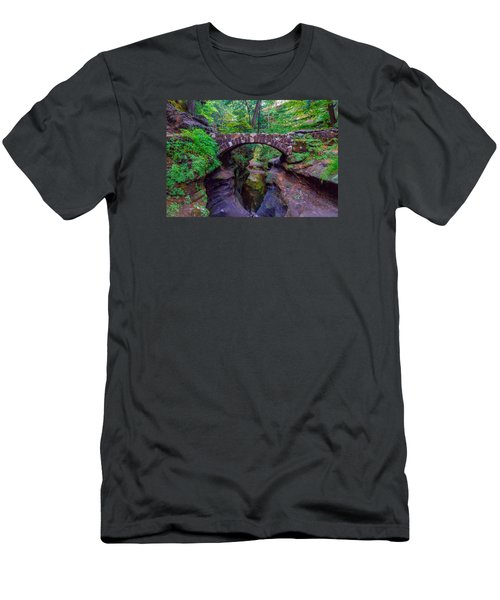 Men's T-Shirt (Slim Fit) featuring the photograph Hocking Hills State Park 3 by Brian Stevens
