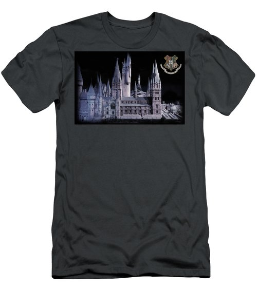 Men's T-Shirt (Slim Fit) featuring the mixed media Hogwards School  by Gina Dsgn