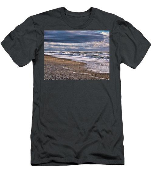Men's T-Shirt (Athletic Fit) featuring the photograph Hokitika Beach New Zealand IIi by Steven Ralser