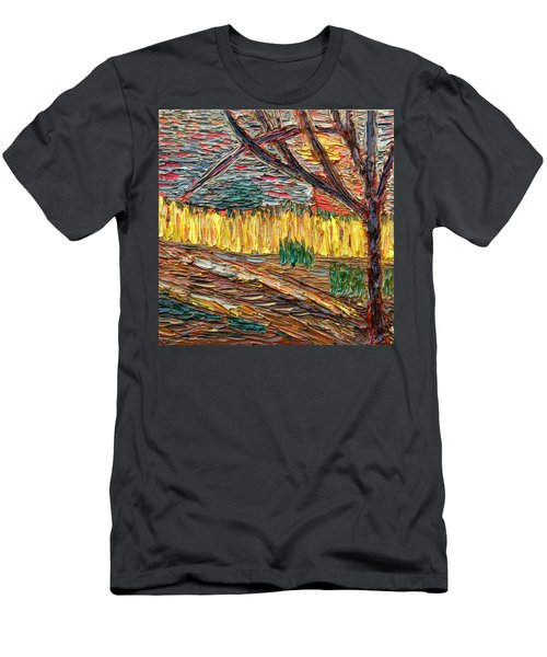 Men's T-Shirt (Slim Fit) featuring the painting Hold The Thought Firmly... by Vadim Levin