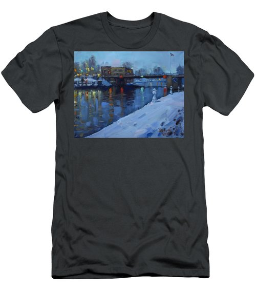 Holiday Lights In Tonawanda Canal  Men's T-Shirt (Athletic Fit)