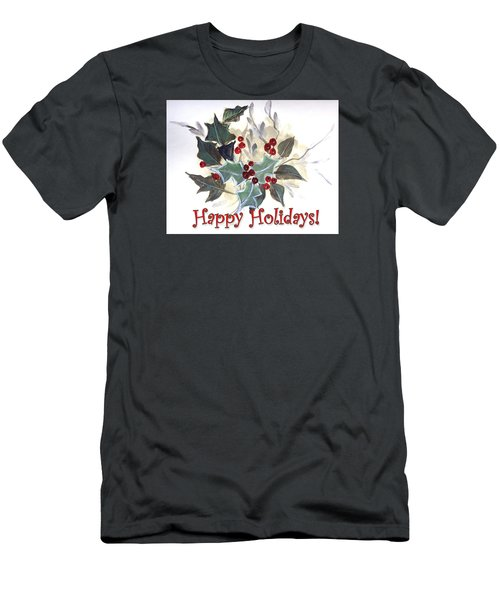 Holidays Card -1 Men's T-Shirt (Slim Fit) by Dorothy Maier