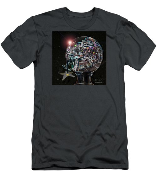 Men's T-Shirt (Slim Fit) featuring the photograph Hollywood Dreaming Marilyn's Star by Cheryl Del Toro