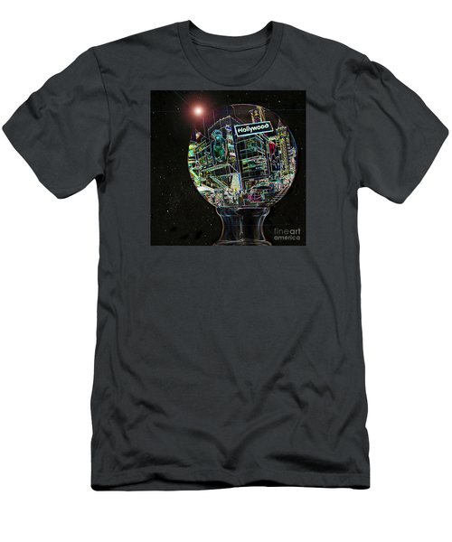 Men's T-Shirt (Slim Fit) featuring the photograph Hollywood Dreaming - Walk Of Fame by Cheryl Del Toro