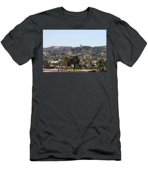 Hollywood Hills From Sunset Blvd Men's T-Shirt (Athletic Fit)