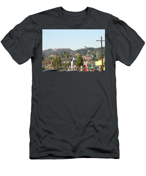 Hollywood Sign Above Sunset Blvd. Men's T-Shirt (Athletic Fit)