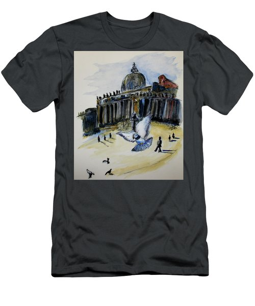 Holy Pigeons Men's T-Shirt (Slim Fit) by Clyde J Kell