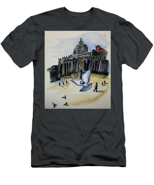 Holy Pigeons Men's T-Shirt (Athletic Fit)
