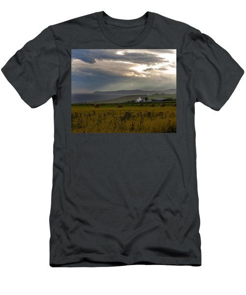 Men's T-Shirt (Slim Fit) featuring the photograph Home By The Sea Scotland by Sally Ross