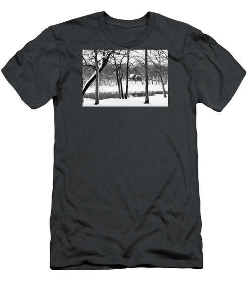 Home On The River Men's T-Shirt (Slim Fit) by Kathy M Krause
