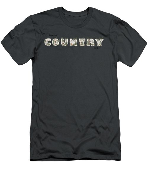 Home Sweet Country Home Men's T-Shirt (Athletic Fit)