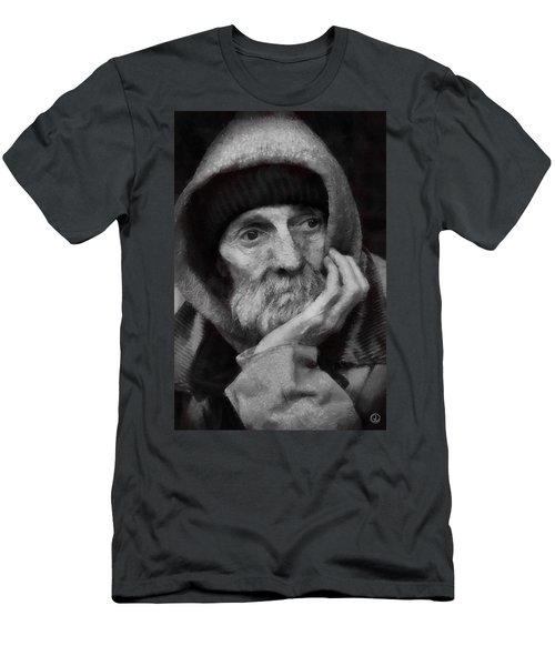 Homeless Men's T-Shirt (Slim Fit) by Gun Legler
