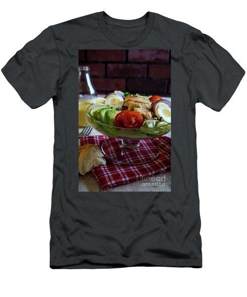 Men's T-Shirt (Slim Fit) featuring the photograph Honey Mustard Chicken Cobb Salad 2 by Deborah Klubertanz